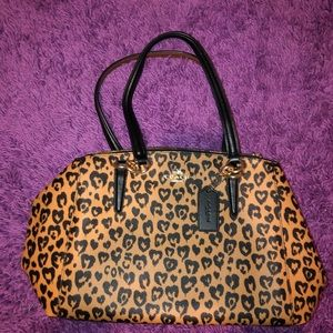 Authentic Coach Shoulder Bag - Cheetah Print